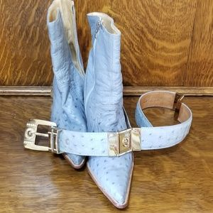 Rebelde Boots/Mexico and Matching Belt